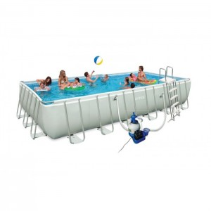 Piscine tubulaire INTEX Ultra Silver