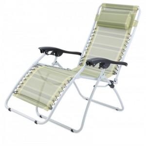 Chaise longue Gelert Mapleton Deluxe Verte, Raviday Camping