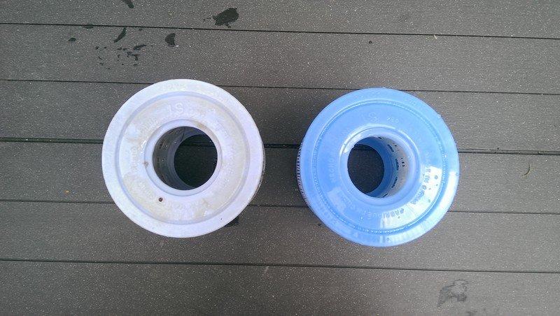Filtre spa usagé après 4 semaines d'utilisation