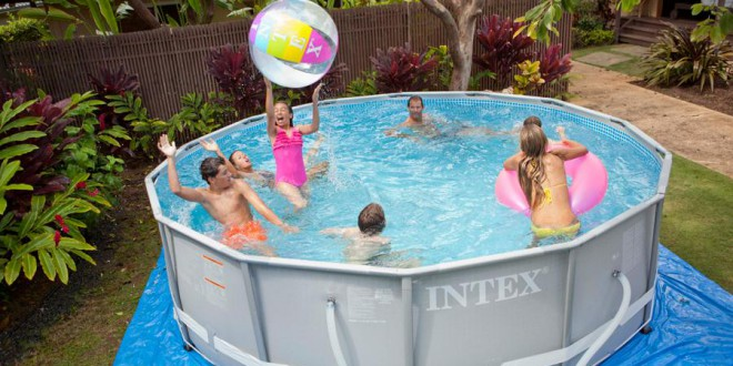 piscine tubulaire intex, piscine hors sol ronde