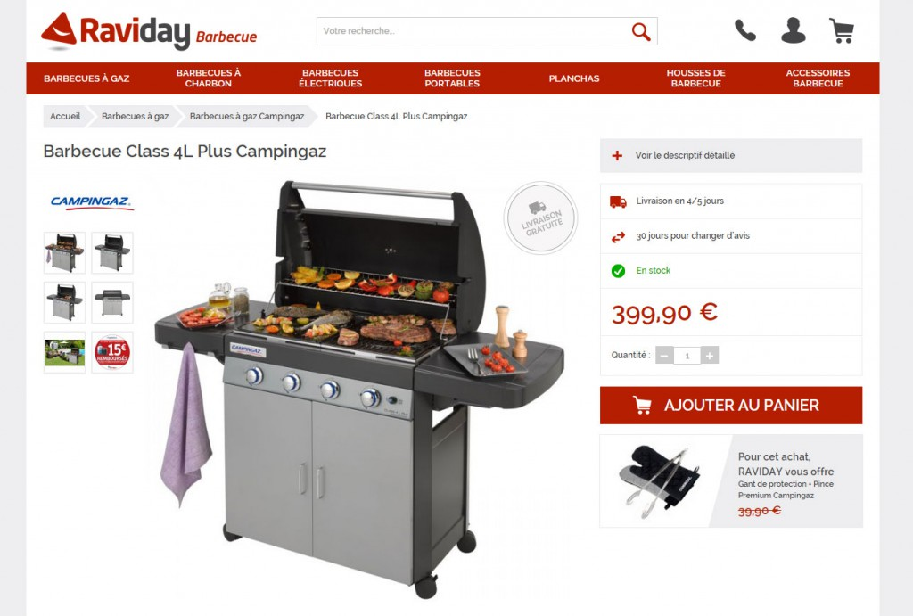 promotion sur les barbecues gaz campingaz chez raviday. Black Bedroom Furniture Sets. Home Design Ideas