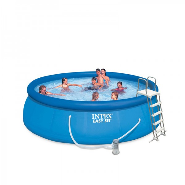 Les piscines hors sol intex tubulaires et autoport es for Piscine gonflable intex