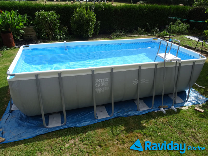 Piscine tubulaire intex ultra silver x x m for Sur quoi poser une piscine tubulaire