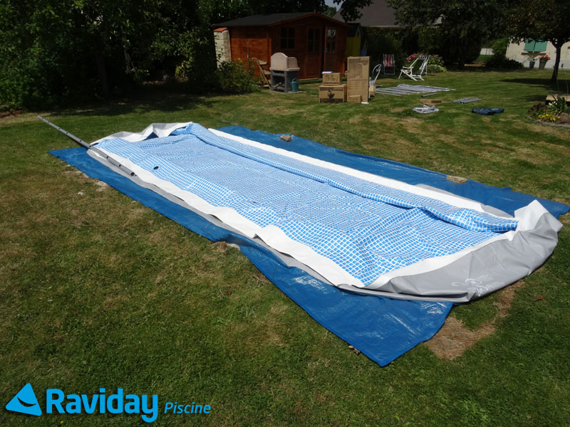 Comment monter une piscine tubulaire montage et for Liner piscine intex