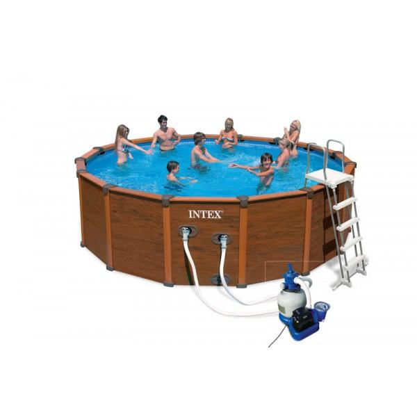 Piscines hors sol intex pr sentation de la gamme for Liner piscine tubulaire intex 4 88