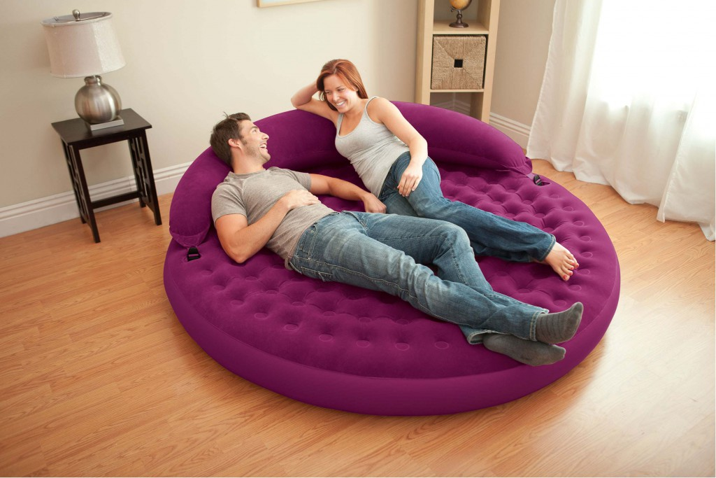 canape-rond-gonflable-violet-raviday-matelas