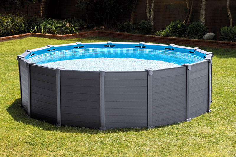 Nouveaut 2016 piscine intex graphite r sistante et tendance for Piscine intex tubulaire