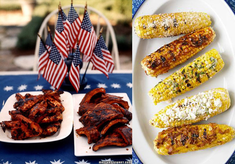 barbecue-etats-unis-ribs-epis-mais-grille