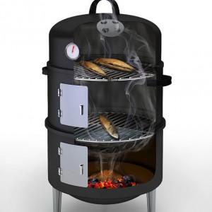 Intérieur d'un fumoir barbecook