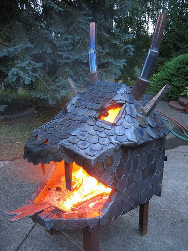 ralis par imaginemetalart dragon barbecue original - Barbecue Fait Maison En Fer