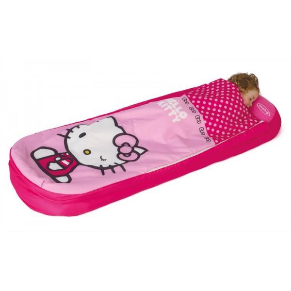 Matelas gonflable Hello Kitty avec sac de couchage intégré