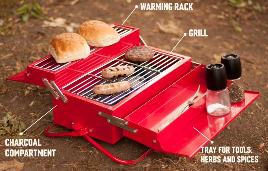 Barbecue original en forme de bo te outils blog de raviday - Boite a the originale ...