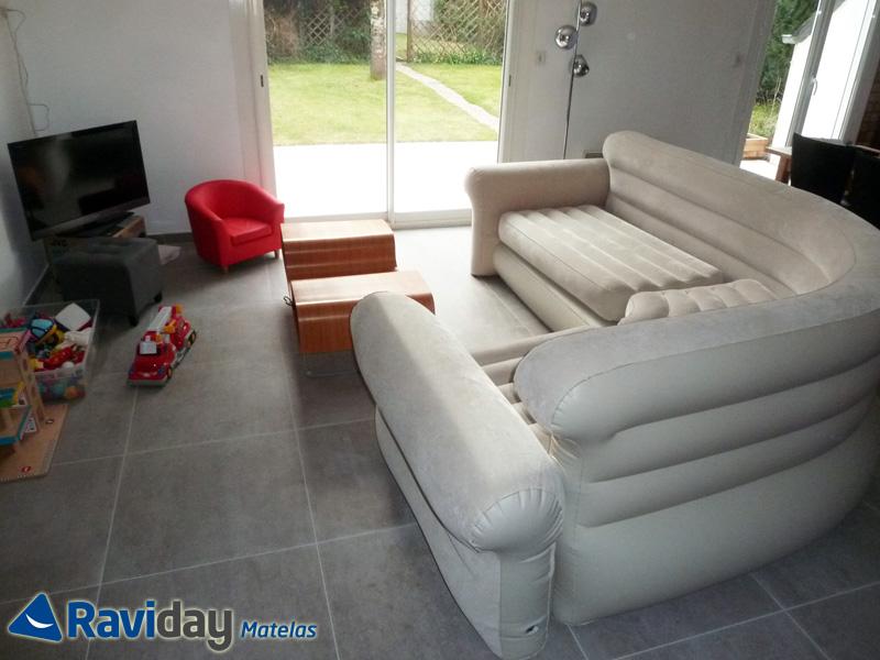 Nous avons testé le canapé gonflable Intex - Blog de Raviday