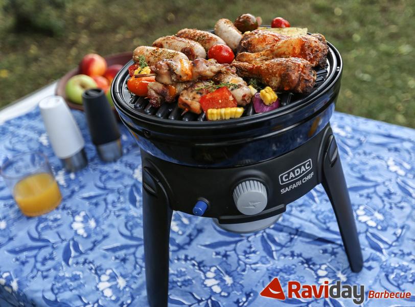 barbecue cadac safari chef 5 modes de cuisson possibles. Black Bedroom Furniture Sets. Home Design Ideas