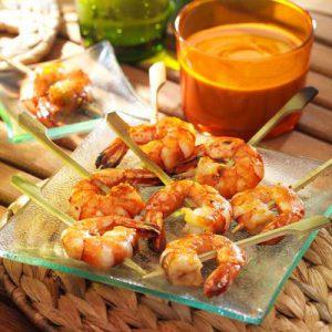 recette-brochette-crevette-cacahuete-barbecue