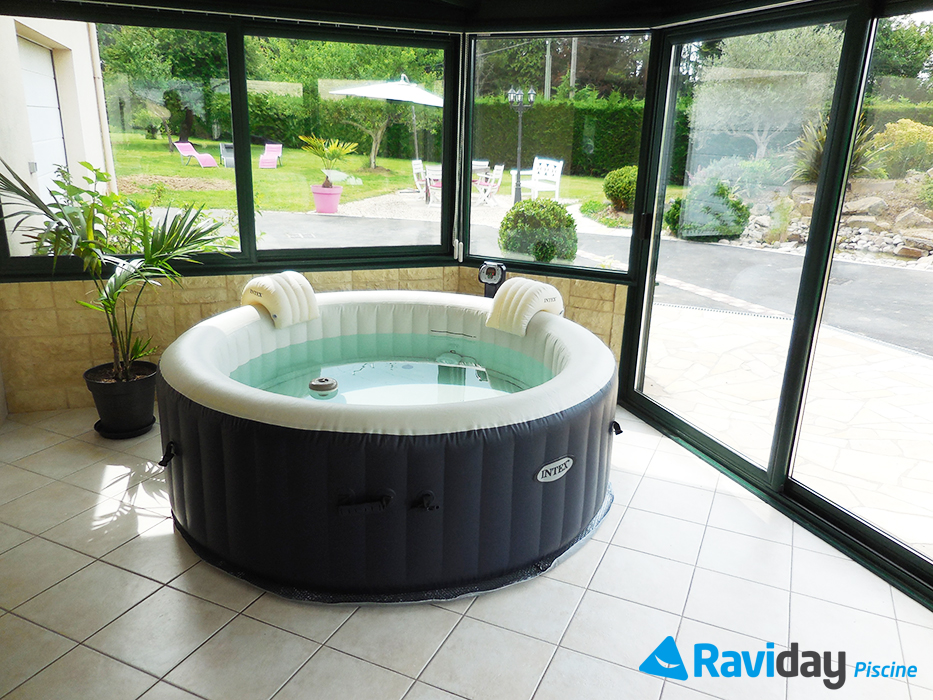 repos spa gonflable intex pure spa plus bleu