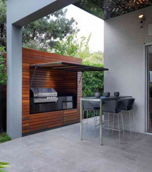 Zen Terras Layouts Of Id Es D 39 Inspiration Pour Int Grer Un Barbecue Ou Une Plancha Sur Sa Terrasse Blog De Raviday