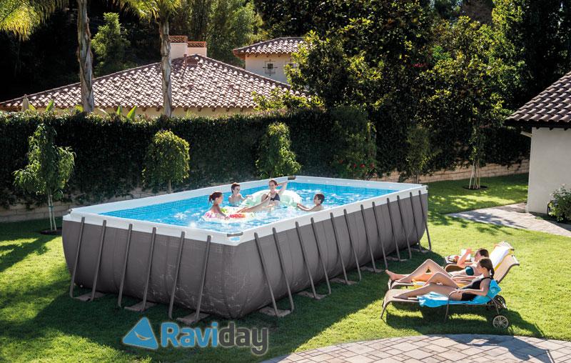 Raviday vous présente la nouvelle couleur de la gamme piscine Ultra Silver d'Intex