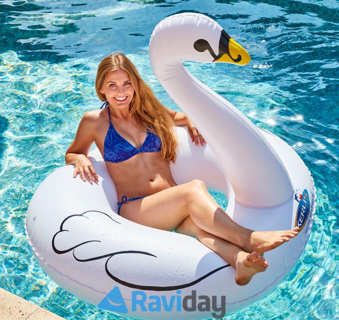 Cygne gonflable de piscine Kerlis