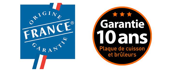 Plancha à gaz fabriquée en France à Niort, Origine France Garantie
