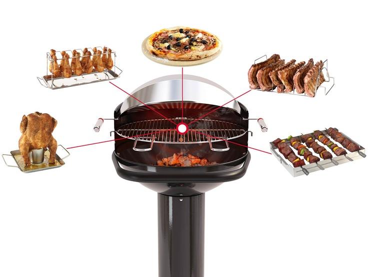 La marque Barbecook propose un dôme adaptable sur tous ses barbecues Quickstart