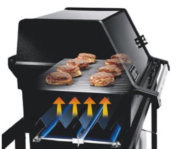 La cuisson directe sur un barbecue au gaz
