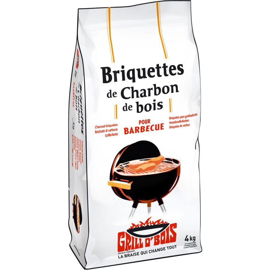 Briquettes de charbon Grillobois vendues chez Raviday Barbecue
