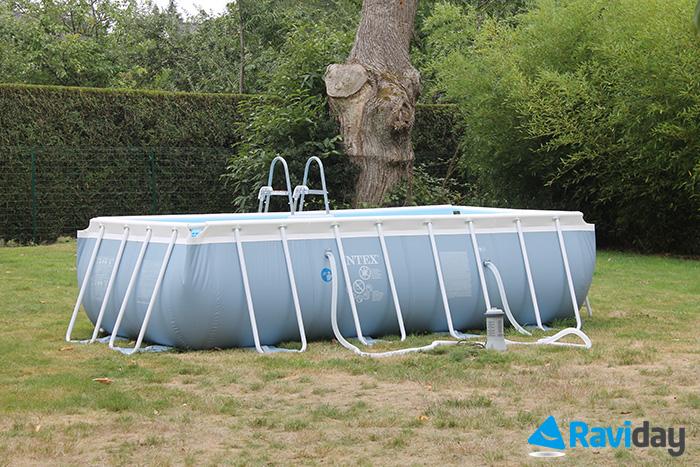 montage de la piscine tubulaire intex prism frame 4 x 2 x 1 m blog de raviday. Black Bedroom Furniture Sets. Home Design Ideas