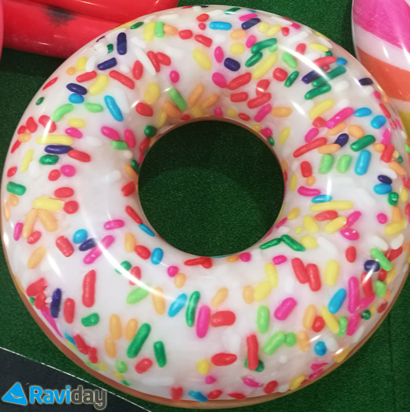 Donut chocolat gonflable Intex