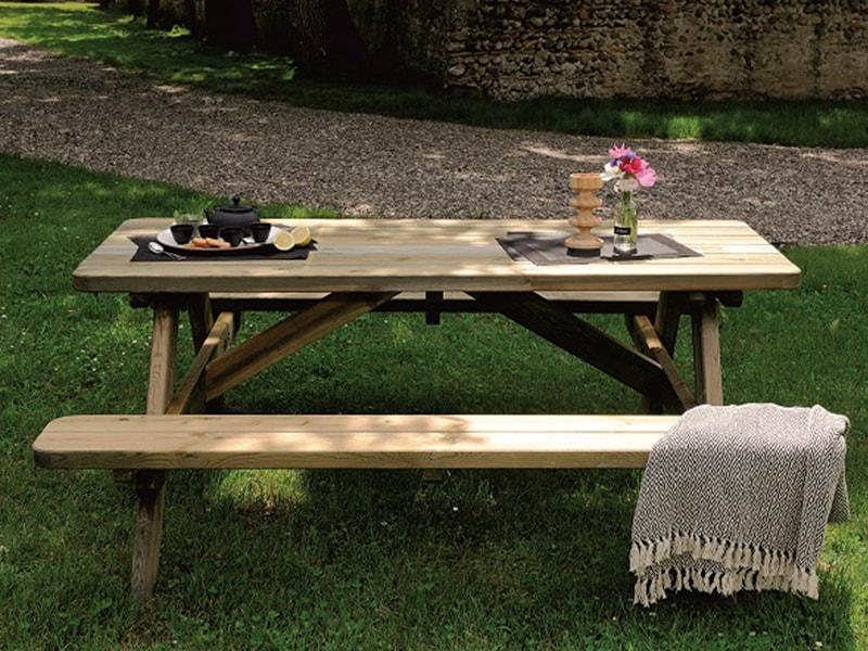Table de jardin pique-nique - Jardipolys