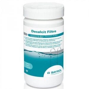 Le produit Decalcit Bayrol nettoie et détartre les filtres à sable.