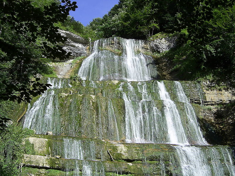 Cascade de l'Éventail dans le Jura