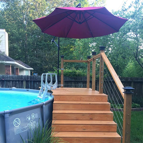 des id es pour am nager sa piscine hors sol blog de raviday. Black Bedroom Furniture Sets. Home Design Ideas
