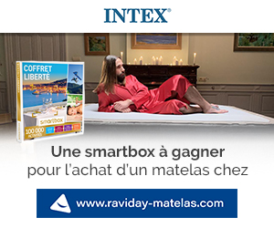 Profitez de l'offre Smartbox avec Intex chez Raviday-matelas