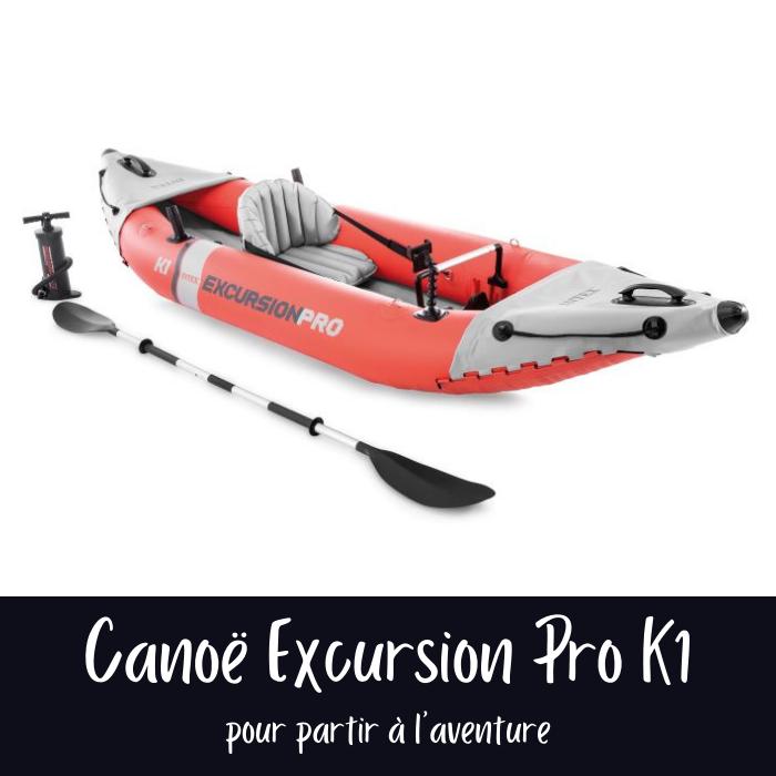 Nouveautés Intex 2021 : Canoë gonflable Excursion 1 place
