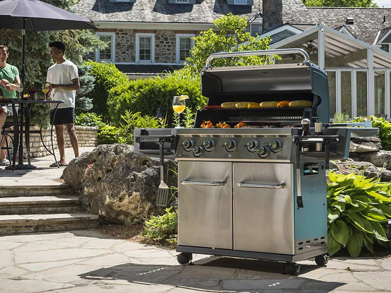 Grill Garden Barbecue Wave Américain à Gaz 3 Brûleurs