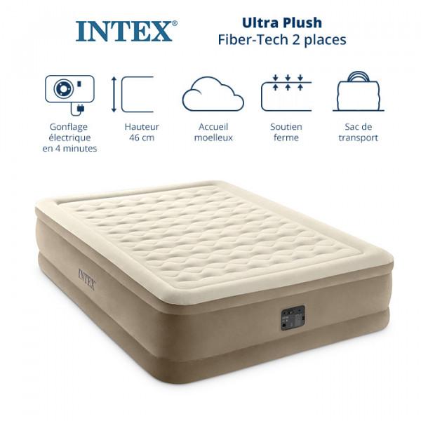 Matelas gonflable électrique Intex haut de gamme - Confort