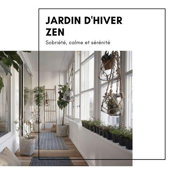 Jardin hiver Zen carré