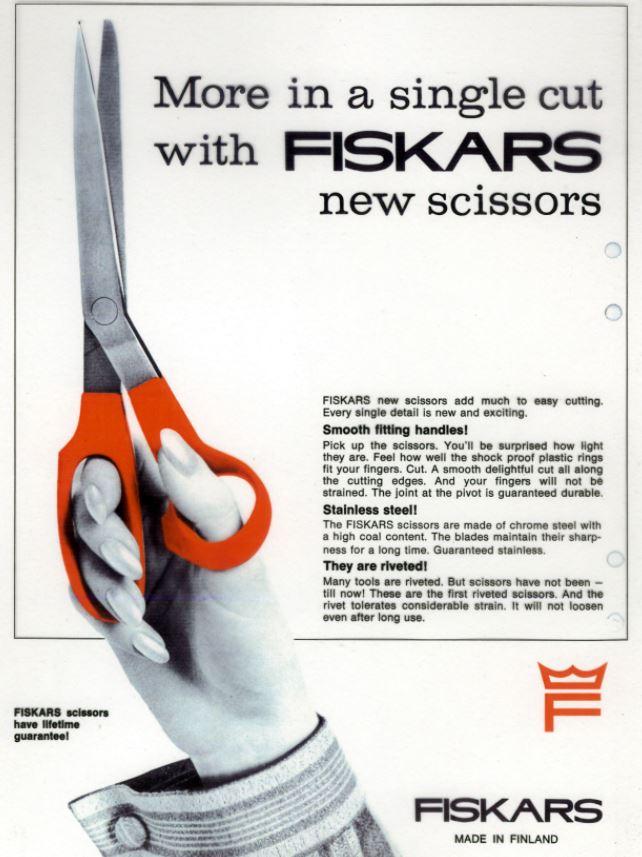 Les ciseaux Fiskars qui ont fait connaître l'entreprise dans le monde entier